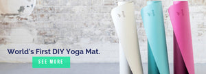 DIYogi non slip yoga mats - all colour variations in white, blue and pink