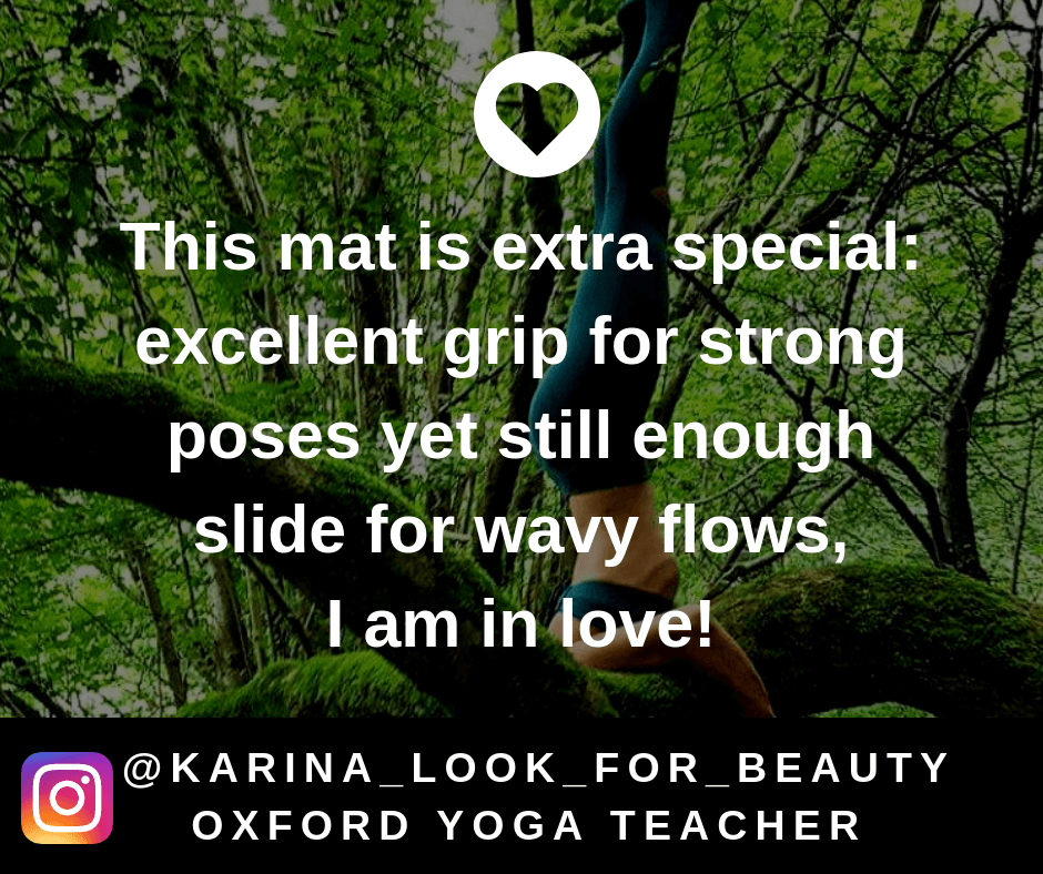 DIYogi yoga mat review 'This mat is extra special: excellent grip for strong poses yet still enough slide for wavy flows, I am in love'