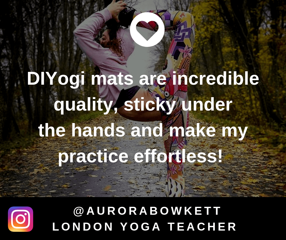 DIYogi yoga mat review 'DIYogi mats are incredible quality, sticky under the hands and make my practice effortless!