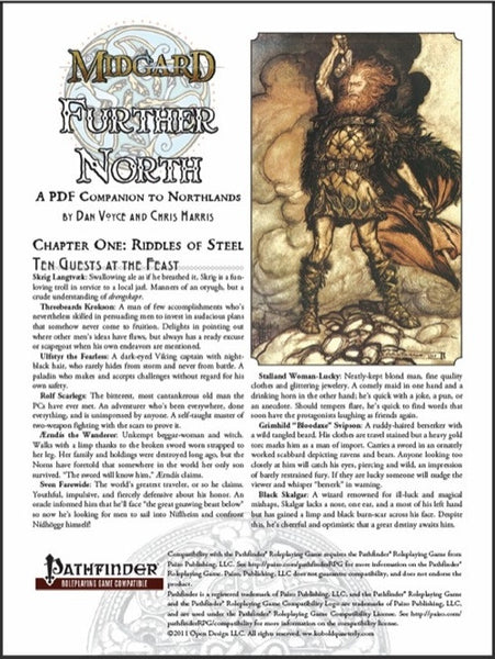 Further North: A PDF Companion to Northlands