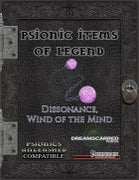 Psionic Items of Legend: Dissonance, Wind of the Mind