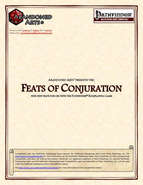 Feats of Conjuration