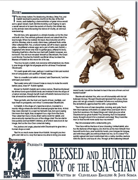 Storm Bunny Presents: Hunted and Blessed - The Story of the Usa-Chan