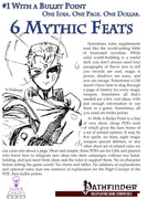 #1 With a Bullet Point: 6 Mythic Feats