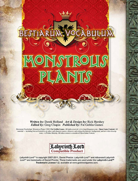 Bestiarum Vocabulum: Monstrous Plants