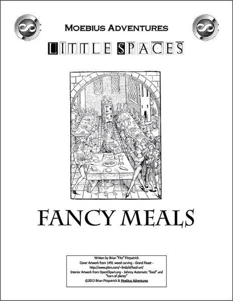 Little Spaces: Fancy Meals