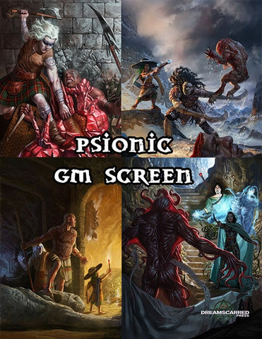 Ultimate Psionics GM Screen