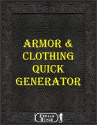 Armor & clothing Quick Generator