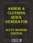 Armor & Clothing Quick Generator - SciFi/Modern Edition