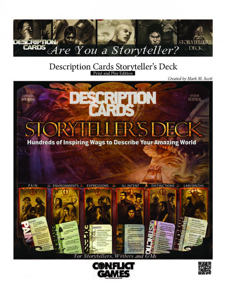 Description Cards Storyteller's Deck: Print and Play Edition