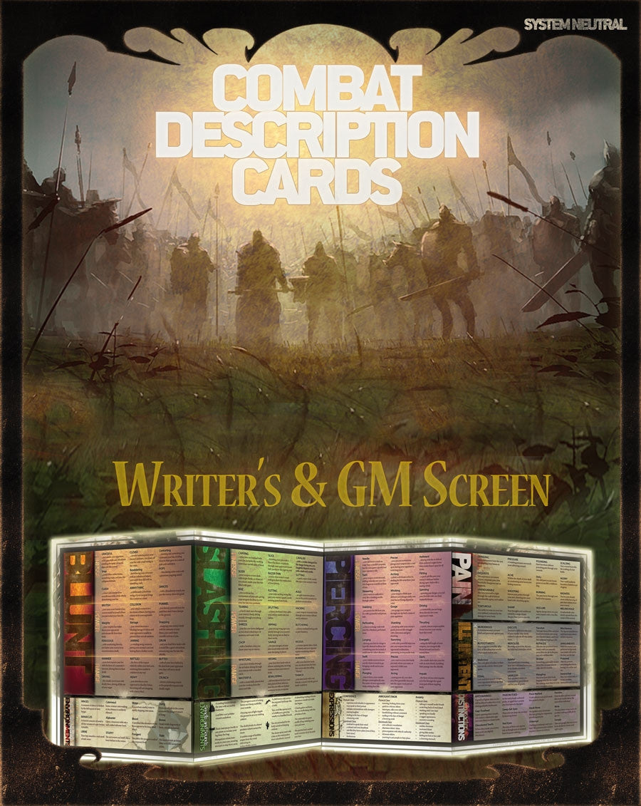 Combat Description Cards Writer's & GM Screen