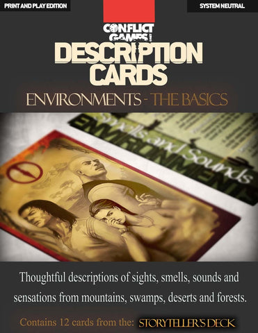 Description Cards - Storytellers Deck - Environments excerpt