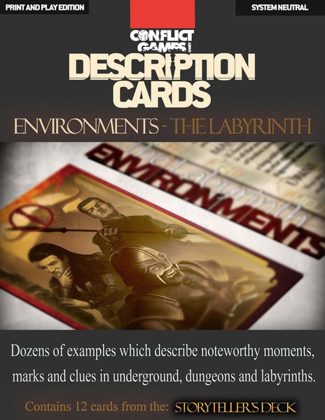 Description Cards - Storytellers Deck - LABYRINTH Excerpt