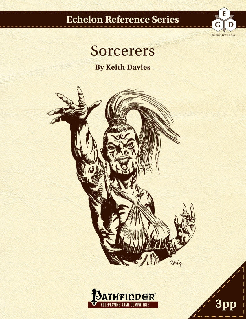 Echelon Reference Series: Sorcerers (3pp+PRD)
