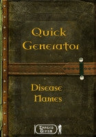 Quick Generator : Disease Names