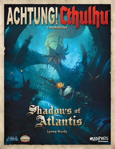 Achtung! Cthulhu RPG: Shadows of Atlantis (Call of Cthulhu/Savage Words, Color)