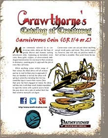 Crawthorne's Catalog of Creatures Abroa for Pathfinder