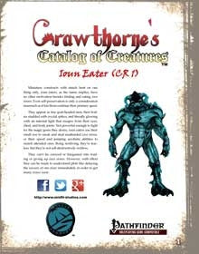 Crawthorne's Catalog of Creatures Ioun Eater for Pathfinder