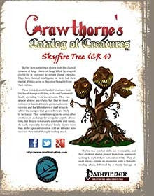 Crawthorne's Catalog of Creatures Skyfire Tree for Pathfinder