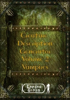 Creature Description Generator Volume 2 - Vampires