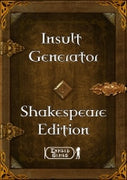Insult Generator Shakespeare Edition