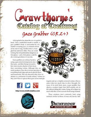 Crawthorne's Catalog of Creatures: Gaze Grabber