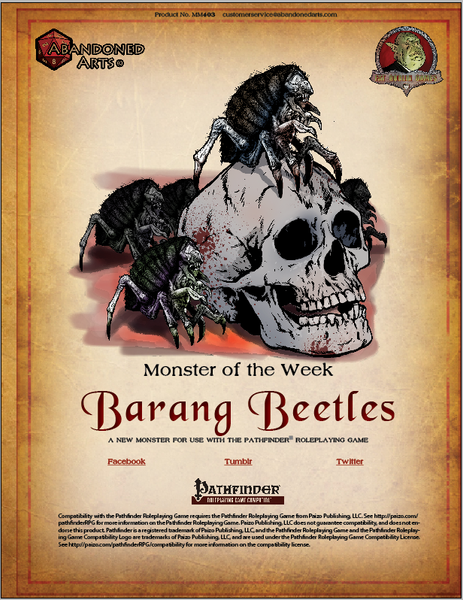 Monster of the Week - Barang Beetles