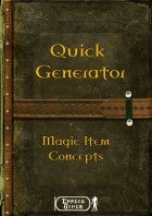 Quick Generator - Magical Item Concept
