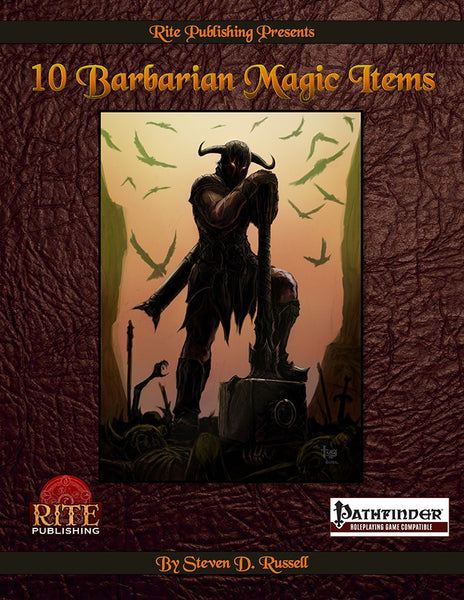 10 Barbarian Magic Items (PFRPG)