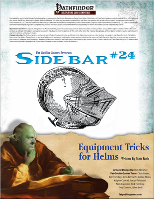 Sidebar 24 - Equipment Tricks for Helms