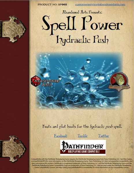 Spell Power: Hydraulic Push