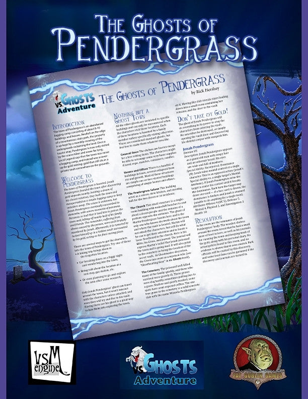 vs. Ghosts Adventure: The Ghosts of Pendergrass