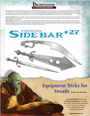 Sidebar 27 - Equipment Tricks for Swords