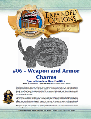 (5E) Expanded Options #06 - Items of Quality - Weapon and Armor Charms