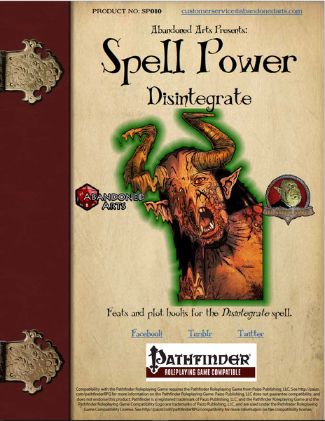 Spell Power: Disintegrate