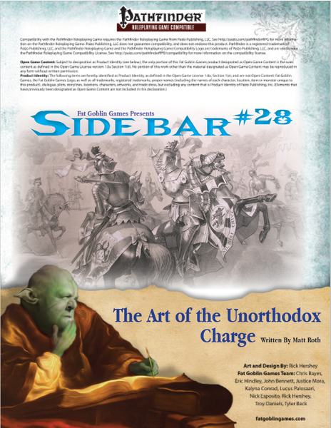 Sidebar #28 - The Art of the Unorthodox Charge