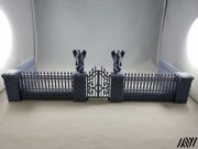 Cemetery Fence and Gate Set