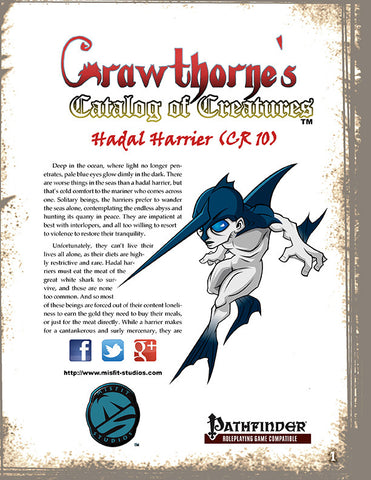 Crawthorne's Catalog of Creatures: Hadal Harrier