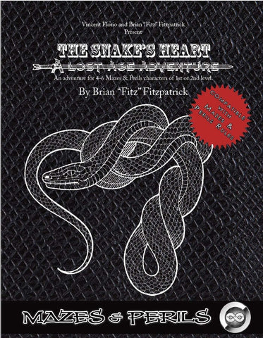 The Snake's Heart - A Lost Age Adventure for Mazes & Perils (PDF)