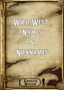 Wild West Names & Nicknames