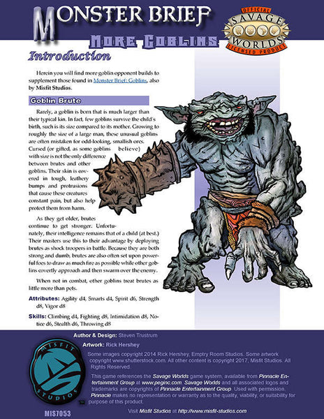 Monster Brief: More Goblins