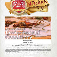 Sidebar #38 - Affliction Tracks for Environmental Conditions