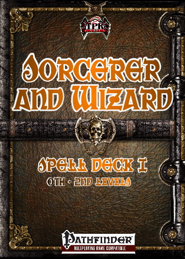 Sorcerer/Wizard Spell Card Deck I [0th-2nd]