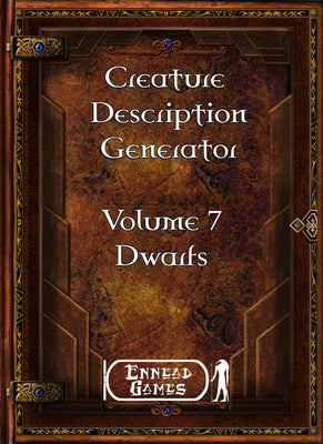 Creature Description Generator Volume 7 - Dwarf