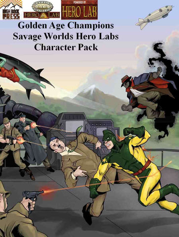 Golden Age Champions Savage Worlds Hero Lab Character Pack