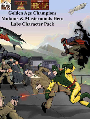 Golden Age Champions Mutants & Masterminds Hero Lab Character Pack