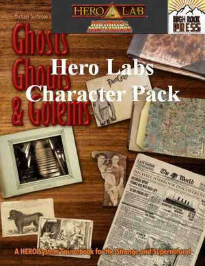 Ghosts Ghouls and Golems Mutants & Masterminds Hero Lab Character Pack