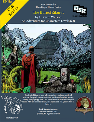 The Buried Zikurat – An adventure for 3 to 7 characters level 6th through 8th and designed for use with The Old School Roleplaying Game rules. For 5 level 7 characters.