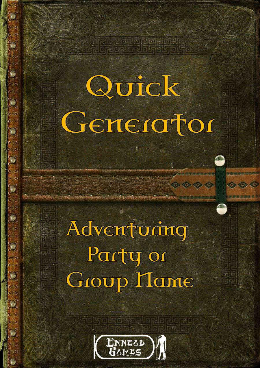 Quick Generator - Adventuring Party or Group Name