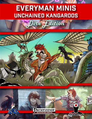 Everyman Minis: Unchained Kangaroos: Dire Edition